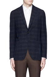 Boglioli 'K. Jacket' Check Boucle Soft Blazer Blue