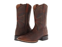 Ariat Sport Wide Square Toe Distressed Brown Cowboy Boots