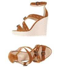 Peter Flowers Sandals Camel