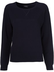 A.P.C. Round Neck Jumper Blue
