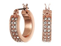 Lauren Ralph Lauren Rose Palais Small Pave Hoop Earrings Crystal Rose Gold Earring