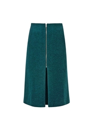 Rika Lykke Boiled Wool Blend Pencil Skirt