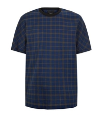 3.1 Phillip Lim Checked Dolman Sleeve T Shirt