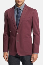 Wallin And Bros Trim Fit Cotton Blazer Red