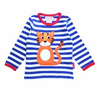 Toby Tiger T Shirt White Blue Yellow