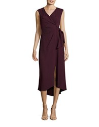 Tracy Reese Textured Mock Wrap Dress Pink