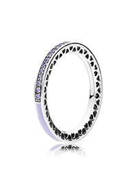 Pandora Design Ring Sterling Silver Cubic Zirconia And Enamel Radiant Hearts