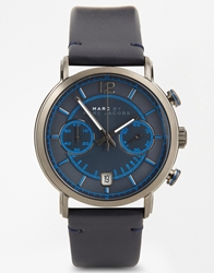 Marc By Marc Jacobs Fergus Blue Leather Strap Chronograph Watch Mbm5068