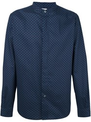 Paul Smith Ps By Printed Shirt Blue