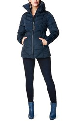 Noppies Women's 'Lene' Quilted Maternity Jacket Dark Blue