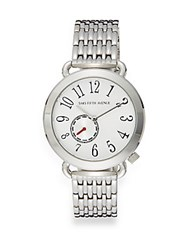 Saks Fifth Avenue Sterling Silver Round Chronograph Watch