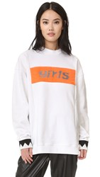 Alexander Wang Girls Patch Sweatshirt White