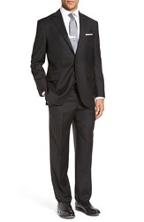 Peter Millar Men's Big And Tall 'Flynn' Classic Fit Solid Wool Suit Black