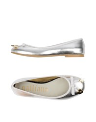 Galliano Footwear Ballet Flats Women Silver