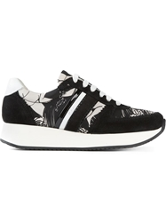 Carven Panelled Lace Up Sneakers