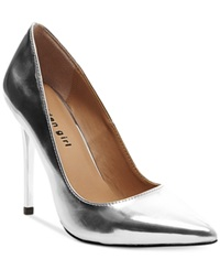 Madden Girl Madden Girl Ohnice Pointed Toe Pumps Women's Shoes Silver Metallic