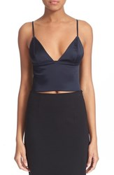 Women's T By Alexander Wang Stretch Satin Crop Camisole