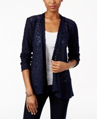 Styleandco. Style Co. Lace Trim Cardigan Only At Macy's Industrial Blue