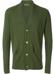 Nuur V Neck Cardigan Green