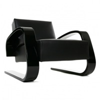Artek Aalto 400 Tank Chair Black Leather Artek 400 Tank Lounge And Sofas Furniture Finnish Design Shop