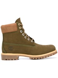 Timberland Lace Up Boots Green