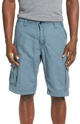 Men's Union 'Adventurous' Linen And Cotton Cargo Shorts Gravity Blue Grey
