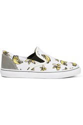 Sophia Webster Adele Printed Canvas Slip On Sneakers White