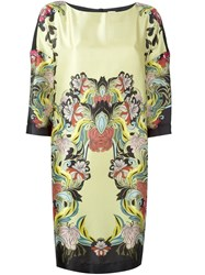 I'm Isola Marras Floral Print Shift Dress Yellow And Orange