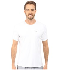 Nike Dri Fit Miler S S Shirt White Reflective Silver Men's Workout