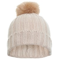 Miss Selfridge Fur Pom Beanie Hat Nude