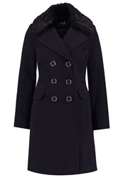 Wallis Classic Coat Navy Dark Blue