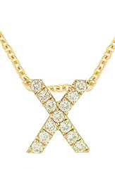 Bony Levy Women's Pave Diamond Initial Pendant Necklace Nordstrom Exclusive Yellow Gold X
