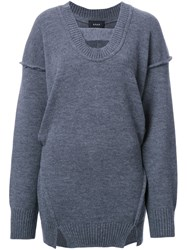 G.V.G.V. Raw Edge 'Maiko' Blouse Grey
