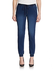 Kensie Denim Track Pants Electric Blue