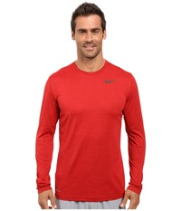 Nike Dri Fit Training Long Sleeve Shirt Night Maroon Gym Red Black Men's Clothing Brown
