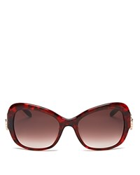 Moschino Butterfly Cat Eye Sunglasses 56Mm Brown Gradient Lens