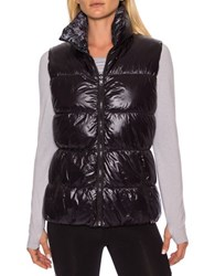 Betsey Johnson Reversible Printed Puffer Vest Grey