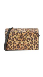 Charlotte Olympia Feline Cross Body Clutch Leopard