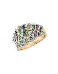 Le Vian Exotics Multi Colored Diamond And 14K Honey Gold Ring