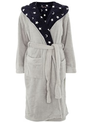 Dorothy Perkins Cosy Robe With Moon And Star Print Grey