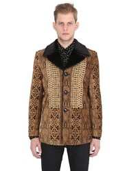 Saint Laurent Military Style Tapestry Coat