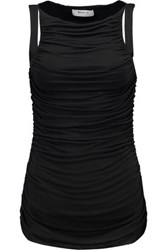 Bailey 44 Parvati Ruched Stretch Jersey Top Black