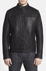 Rogue Black Faux Leather Racer Jacket