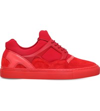 Kg By Kurt Geiger Tyson Caged Suede Trainers Red