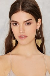 Nasty Gal One More Triangle Fringe Earrings