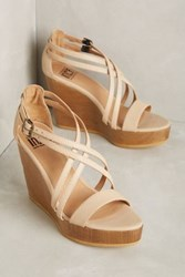Anthropologie Fortress Of Inca Julia Wedges Ivory 5 Wedges