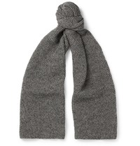 The Workers Club Merino Wool Scarf Gray