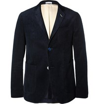 Gant Midnight Blue Cotton Corduroy Blazer