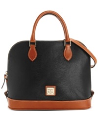 Dooney And Bourke Pebble Zip Zip Satchel Black