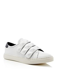 Rebecca Minkoff Becky Perforated Stud Strap Sneakers White